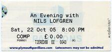 Nils Lofgren Plymouth Pavillions 22/10/05 Ticket #1 ABC