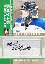2008-09 In The Game Between The Pipes Alain Valiquette Autograph Auto Card