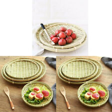 3Pcs Bamboo Tray Chinese Traditional Bamboo Serving Plate Platter for Food