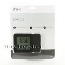 Oregon Scientific Projection Atomic Clock Alarm w/Indoor Temperature (Black) New