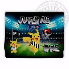 JUVENTUS POKEMON portafoglio SOLDI FLIP Scuola Calcio Regalo Personalizzato PT49