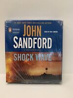 New and Sealed - John Sanford Unabridged Audio CD: Shock Wave