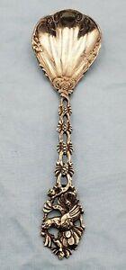 Beautiful Vintage 800 Silver Sugar Spoon w/ Turkey on Handle  (#599)