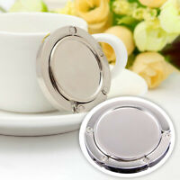 Metal Round Folding Handbag Purse Tote Bag Table Hook Hanger Holder Novelty