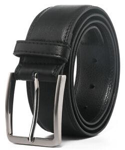 Men's Leather Dress Belt with Single Prong Buckle Belts for Men,1.5 inch wide