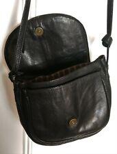 Fabulous quality vintage Alami soft black leather crossbody/shoulder bag