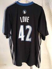 Adidas NBA Jersey Minnesota Timberwolves Kevin Love Black Short Sleeve sz S