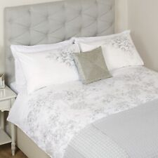 LAURA ASHLEY COLETTE FLORAL EMBROIDERED KING SIZE QUILT COVER PILLOW CASES £134