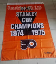Philadelphia Flyers 2 Time Stanley Cup Champions Flag