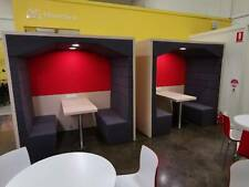 Office 4 Person Meeting Pod/Booths. NEW Soundproof w/ Table. RRP $15K