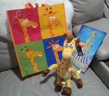 "new Geoffrey TOY R US"" ORANGE STARS PLUSH , BOOK & shopping tote bag combo"
