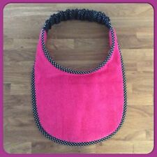 Newfoundland Big Dog drool slobber bib large breed PLAIN PINK Towelling B