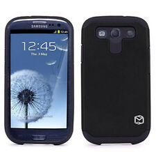 Galaxy s3 Case - Two Piece Hybrid - Silicone Gel with Plastic Outer Shell