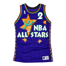 rare 1995 nba all star game #2 larry johnson custom champion jersey size 44