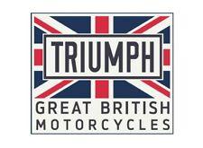 TRIUMPH MOTORCYCLE UNION JACK PATCH CAFE RACER RETRO GREAT BRITISH MPAS19322