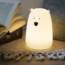 Children Light Led Portable USB Multicolor Silicone Teddy Bear Night Lamp Tap