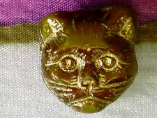 VTG 25 AMBER BABY PRECIOUS KITTY CATS HEAD BEADS  LIMITED QUANTITY #050212l