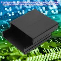 Matte Black Aluminum Project Box Enclosure Electronic Instrument Case40x97x100mm
