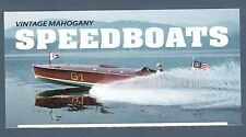 4160-63 Mahogany Speedboat Panel (No Stamps) Free Shipping