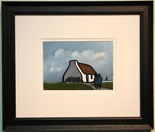 Irish Art Original Framed Painting IRISH COTTAGE & SHAWLIES by Eileen Gallagher
