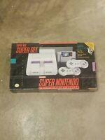 Super Nintendo SNES Game Console System EMPTY BOX Styrofoam Cardboard & Poster