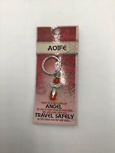 AOIFE guardian angel key ring gem watching over you safe travels keyring