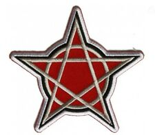 Pentagram Patch Embroidered Iron On Sew On Patch
