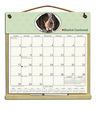 Bluetick Coonhound Dog Wooden Refillable Holder Filled With A 2018 Calendar