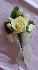 24 Ivory / Cream Rose Buttonholes. Artificial Flowers. Wedding