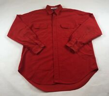 Polo Ralph Lauren Flannel G.I. Shirt Button 2 Pocket Burnt Orange Mens Sz XL