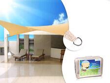 Toile solaire Voile d'ombrage Bâche de Tente carrée 3,6 / 4 / 5 m Protection UV