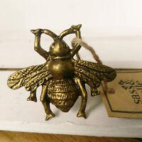Möbelknopf Vintage Biene Hummel Messing Gold Insekten Möbelknauf Knauf Metall