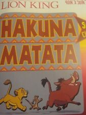 Disney The Lion King 2019 HAKUNA MATATA Plush Silky Soft Throw Blanket 40x50