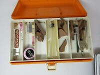 Vintage Carving Tools Toolbox With Forms and Tools Orange Adventurer 1199-5
