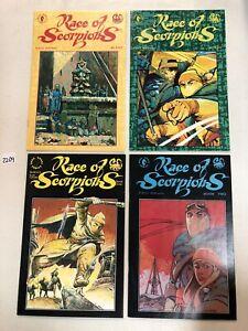 Race Of Scorpions (1990) #1 2 3 4 1-4 VF/NM Complete Set Leo Duranona story/art