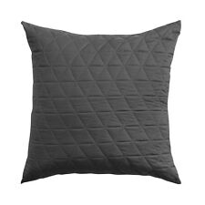 Bianca Vivid Coordinates Charcoal Quilted Square Filled Cushion 43cm x 43cm
