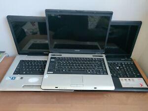 3x Toshiba Equium A100-306 satellite L450-188 & C660-174 = for spares or repair