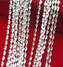 Wholesale 10X Jewelry Double Water Wave 925 Silver Plated  Necklaces Chains NEW