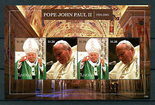 Tuvalu 2013 estampillada sin montar o nunca montada Papa Juan Pablo II 4v m/s los Papas Iglesia Católica sellos