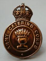 British Army, Army Catering Corps Cap Badge. KC.Brass
