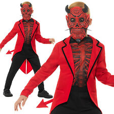 Day of the Dead Devil Costume Halloween Boys Childrens Fancy Dress Outfit