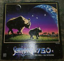 Milton Bradley Schimmel Puzzle, Playful World, Rhinos, 750 Pieces, No. 4684-11