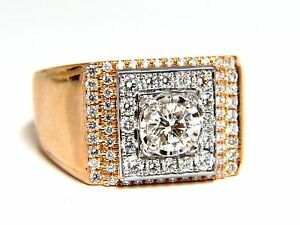 .95ct natural diamonds mens ring 18kt
