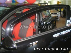 HEKO Windabweiser für OPEL CORSA D/E 3 türig 2 teilig Bj. ab 09/2006 25364