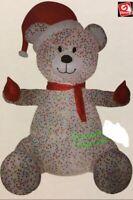 CHRISTMAS SANTA ANIMATED HUG TEDDY BEAR SPRINKLES  AIRBLOWN INFLATABLE 8.5 FT