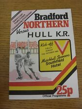 17/10/1982 programma Rugby League: BRADFORD Northern V HULL KINGSTON ROVERS