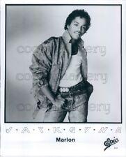 Press Photo Singer Marlon Jackson of The Jacksons Victory 1980s
