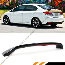 FOR 2012-15 9TH GEN HONDA CIVIC SEDAN Si STYLE GLOSSY BLACK TRUNK SPOILER W/ LED