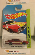 '69 Ford Torino Talladega #235 * Dark RED * 2014 Hot Wheels * G19