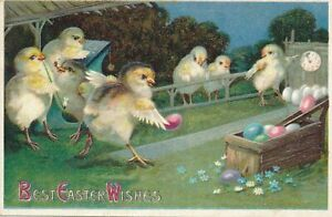 EASTER - Bowling Chicks Best Easter Wishes - 1910